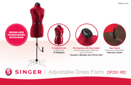 Adjustable Dress Form DF251 RD