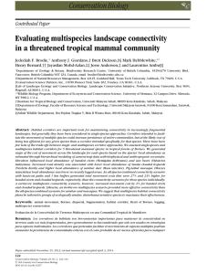Evaluating multispecies landscape connectivity in a threatened