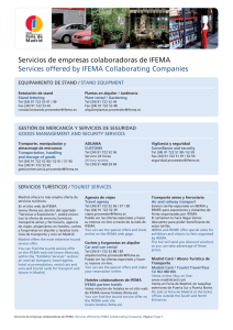 Servicios de empresas colaboradoras de IFEMA Services offered by
