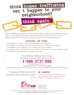 Think human trafficking can`t happen in your neighborhood? Think