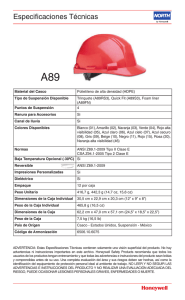 Cascos Tabela.indd - Honeywell Safety Products