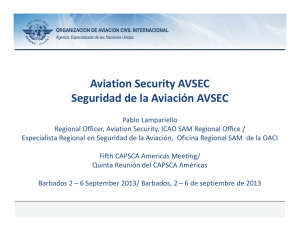 Aviation Security AVSEC Seguridad de la Aviación AVSEC