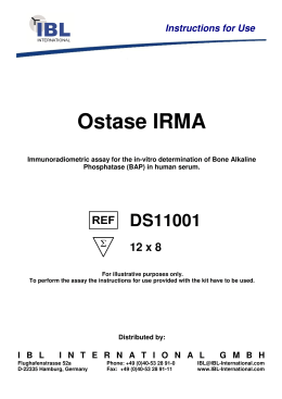 Ostase IRMA - IBL international