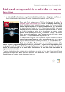 Ranking editoriales PW