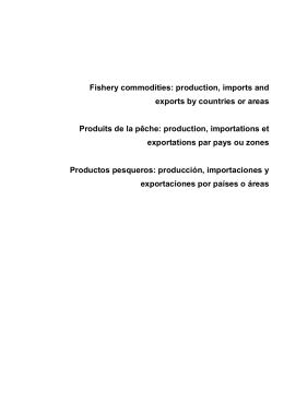 Fishery commodities: production, imports and exports by countries
