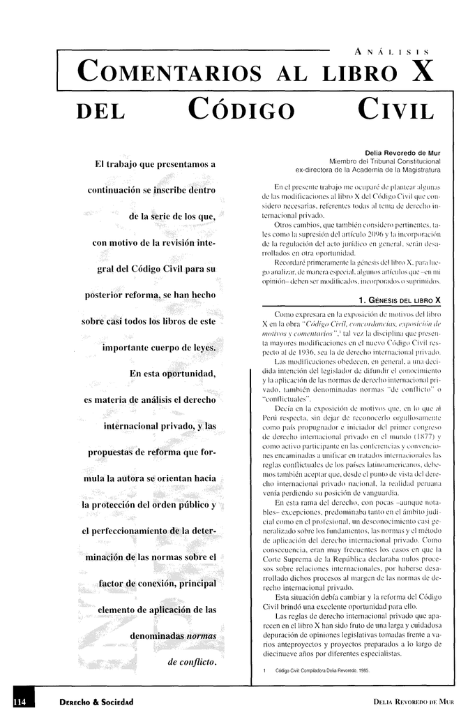 Comentarios Al Libro X Del C U00f3digo Civil