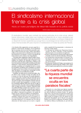 El sindicalismo internacional frente a la crisis global