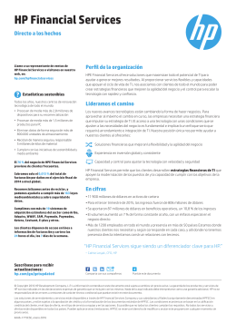 HP Financial Services - Fact Sheet (Spanish EMEA)