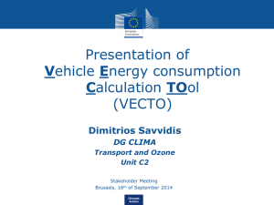 Presentation of Vehicle Energy consumption Calculation TOol