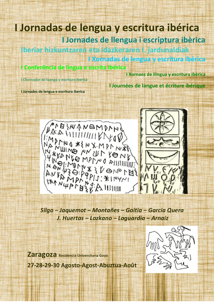 a46460b72a26 I Jornadas de lengua y escritura ibérica