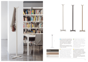 Coat stand with remarkable for- mal personality, designed to fulfill its