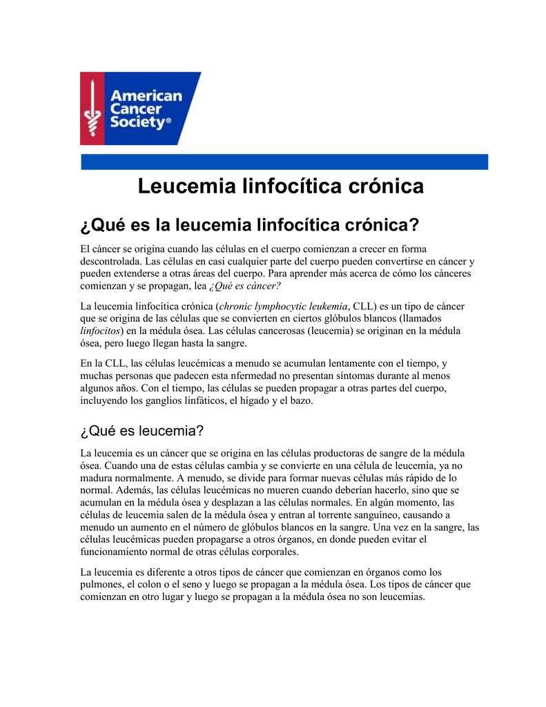sintomas leucemia linfocítica cronica