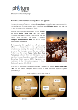 ARABIAN COTTON Stem Cells - In