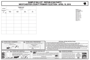 sample ballot - Town of North Castle