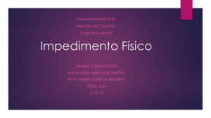 Impedimento fisico educ 204 ppt