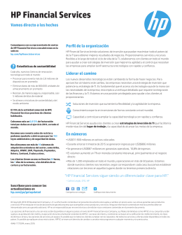 HP Financial Services - Fact Sheet (Spanish AMS)