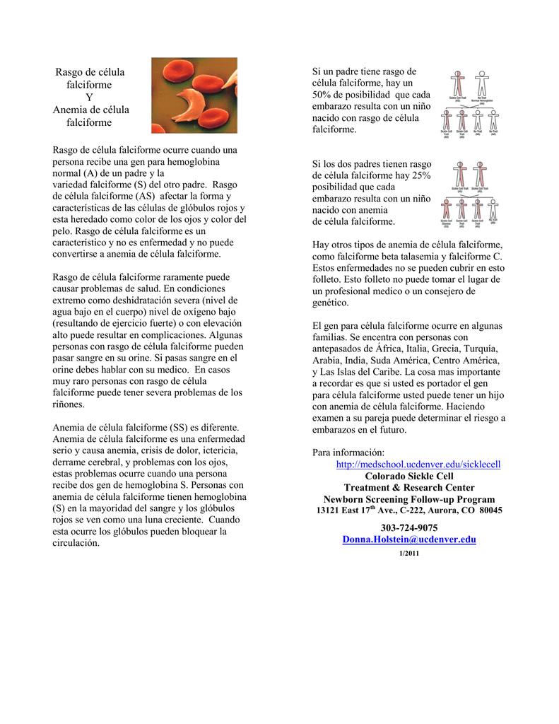 Anemia falciforme en el embarazo riesgos