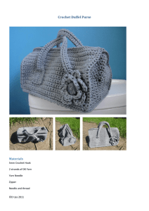 Crochet Duffel Purse - Look At What I Made