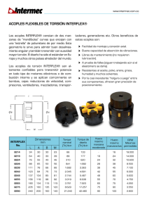 ACOPLES FLEXIBLES DE TORSIÓN INTERFLEX®
