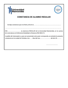 Certificado de alumno regular