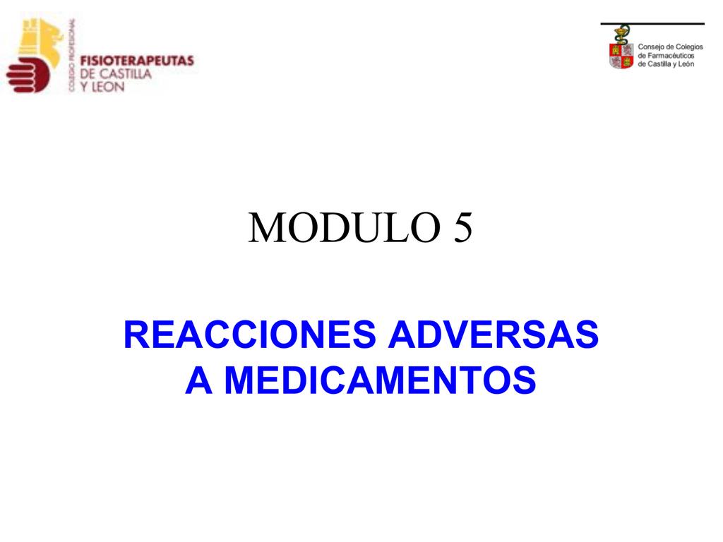 Modulo 5 Colegio Oficial De Farmacéuticos De Burgos