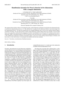 Hamiltonian dynamics for Proca`s theories in five dimensions with a