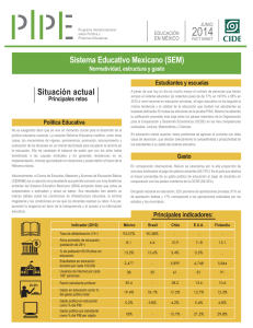 Sistema Educativo Mexicano (SEM) Situación actual