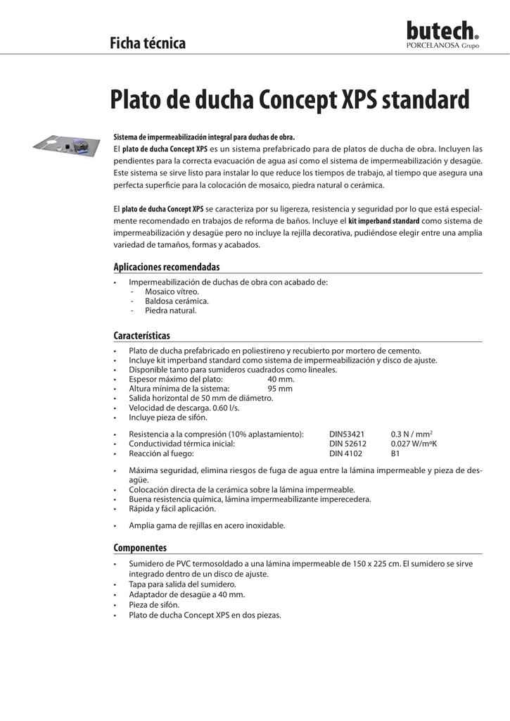 Tamanos Platos De Ducha.Plato De Ducha Concept Xps Standard