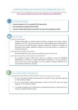 PREGUNTAS FRECUENTES AYUDAS DE COMEDOR Preguntas