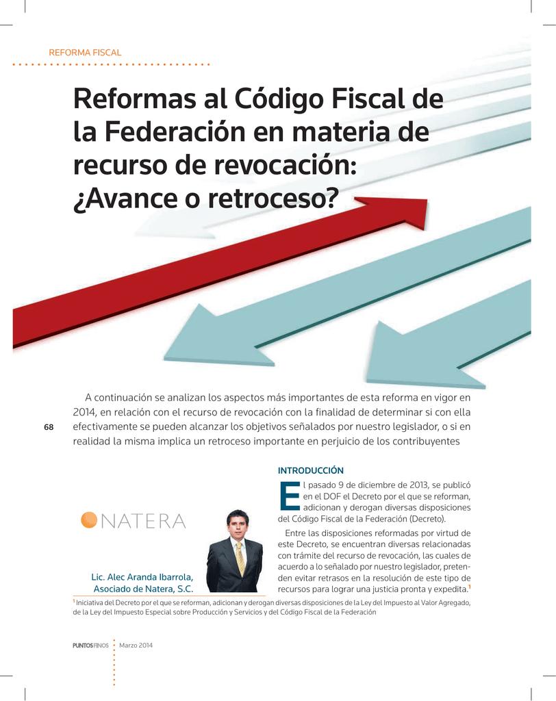 Reformas al Código Fiscal de la Federación en materia de