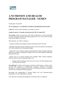 A NUTRITION AND HEALTH PROGRAM MANAGER