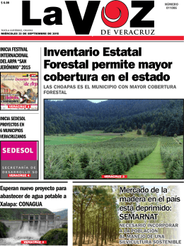 Inventario Estatal Forestal permite mayor cobertura en el estado
