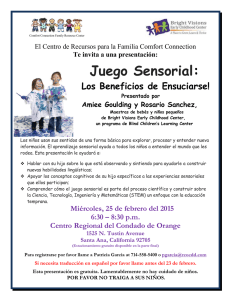 Juego Sensorial - Regional Center of Orange County