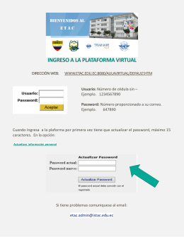 INGRESO A LA PLATAFORMA VIRTUAL
