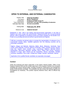 open to internal and external candidates