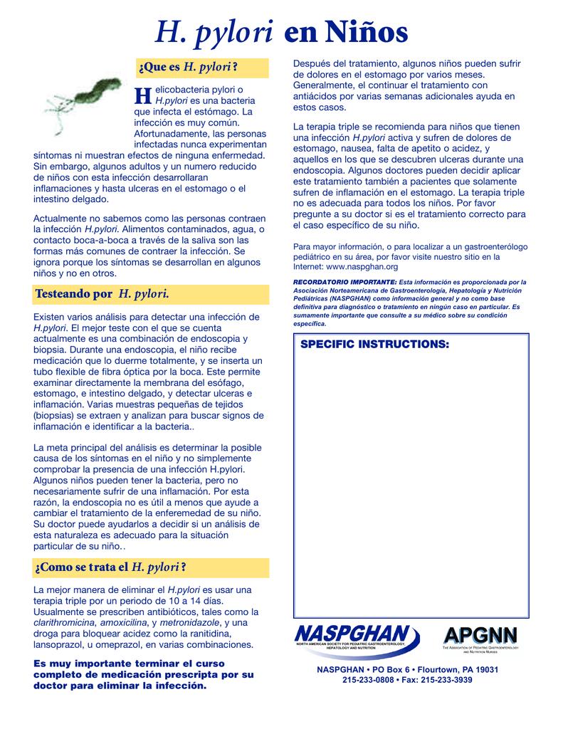 helicobacter pylori sintomas despues del tratamiento
