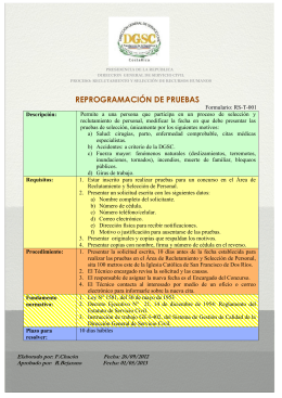 Formulario: RS-T-001 - Dirección General de Servicio Civil de Costa