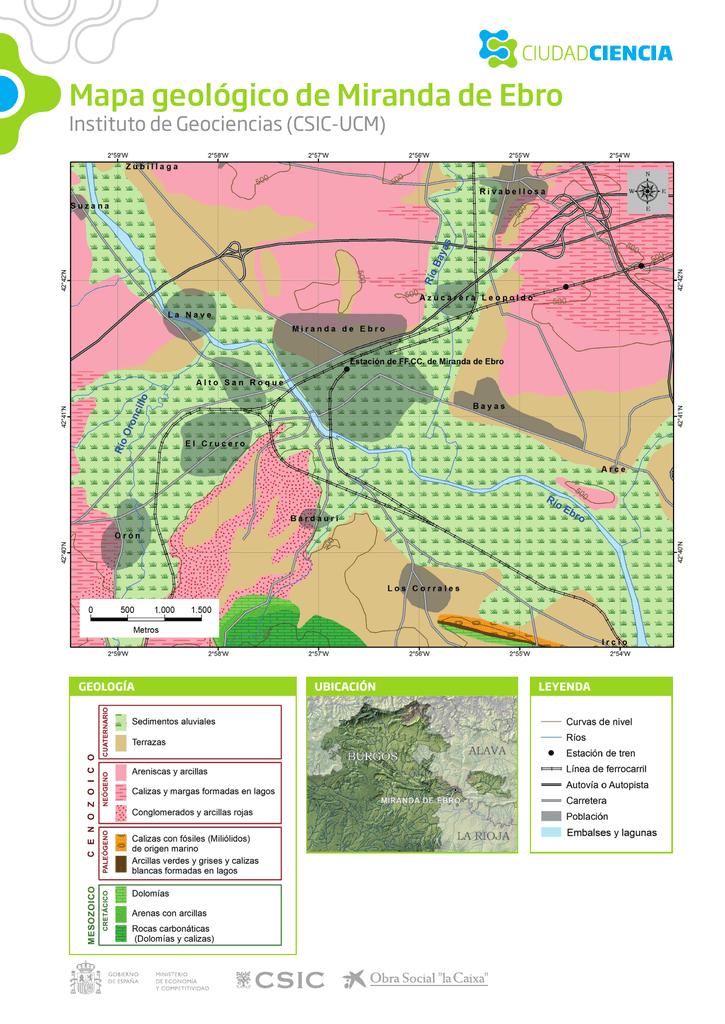 Mapa Miranda De Ebro.Mapa Geologico De Miranda De Ebro