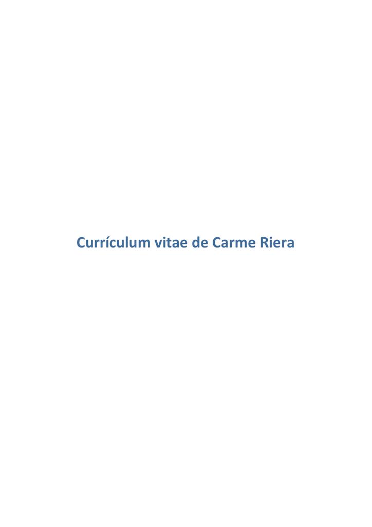 Currículum de Carme Riera