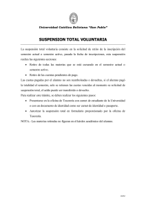 suspension total voluntaria