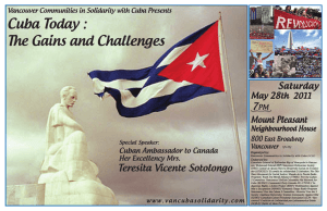 Cuba Today : The Gains and Challenges