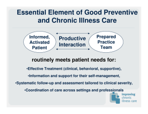 Essential Element of Good Preventive and Chronic Illness Care