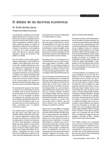 El debate de las doctrinas económicas