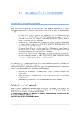 01- LEGALIZACIÓN DE DOCUMENTOS