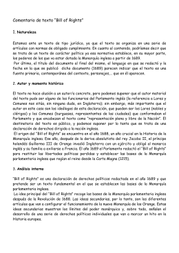 "Comentario de texto ""Bill of Rights"""