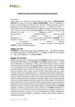 Solicitud de prestamos quirografarios for Contrato de hipoteca
