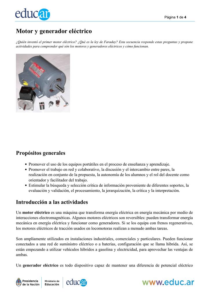 Motor Y Generador Electrico