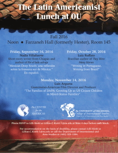 The Latin Americanist Lunch at OU