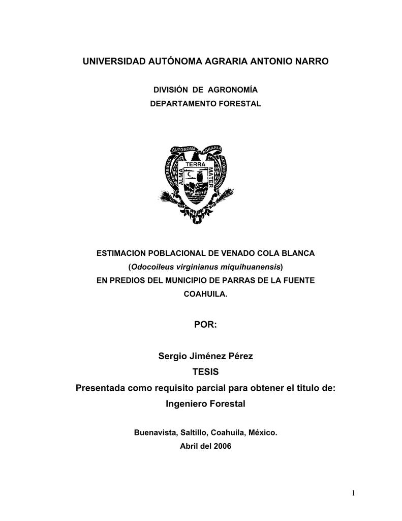 MONITOREO DE VENADO COLA BLANCA (Odocoileus virginianu