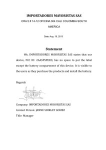 IMPORTADORES MAYORISTAS SAS Statement